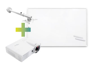 Interaktív tábla (78col), közel vetítő projektor