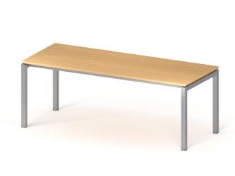 Íróasztal, 800 x 2000 mm-es, fém lábbal