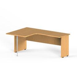 Íróasztal, egyedi formájú, 1800×1200-as, lap- és csőlábas, balos, 6.8-as L-asztal