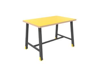 alacsony, széles, multifunkciónális 4 személyes asztal