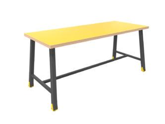 alacsony, széles, multifunkciónális 6 személyes asztal