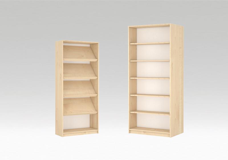 Könyvtári szekrények, polcok
