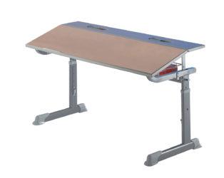 tanulóasztal, bükk laminált lap, görgős