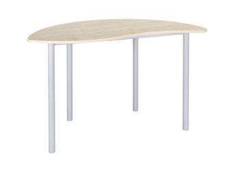 tanári asztal, laminált, kerekített