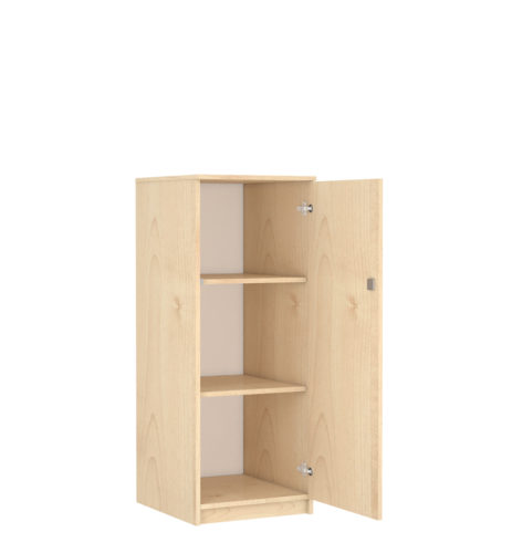 1 ajtós, 2 polcos, biztonsági záras szekrény