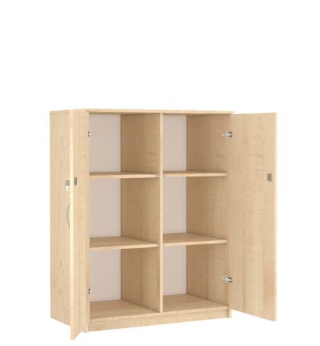 2 középen osztott polcos klasszikus szekrény