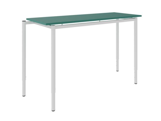 tanulói asztal, laminált, sarkos