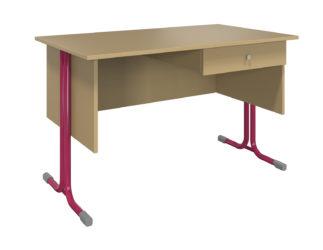 1 fiókos, laminált asztallap, sarkos