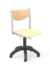 gázrugós tanári szék, rétegelt lemez