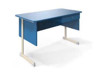 1  fiókos, laminált asztallap