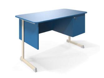 oldalszekrénnyel, laminált asztallap