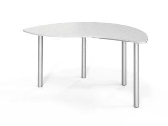félkör elem asztal, szintezhető, laminált