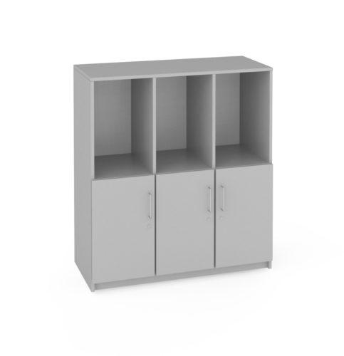 iskolai szekrény,  görgős, zárható ajtókkal