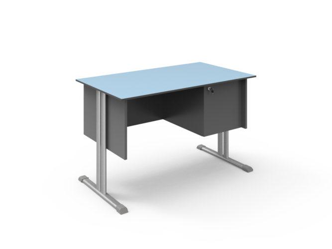 tanári asztal, kompaktlemez lappal