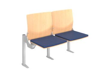 kárpitozott ülőfelület, rétegelt lemez háttámla
