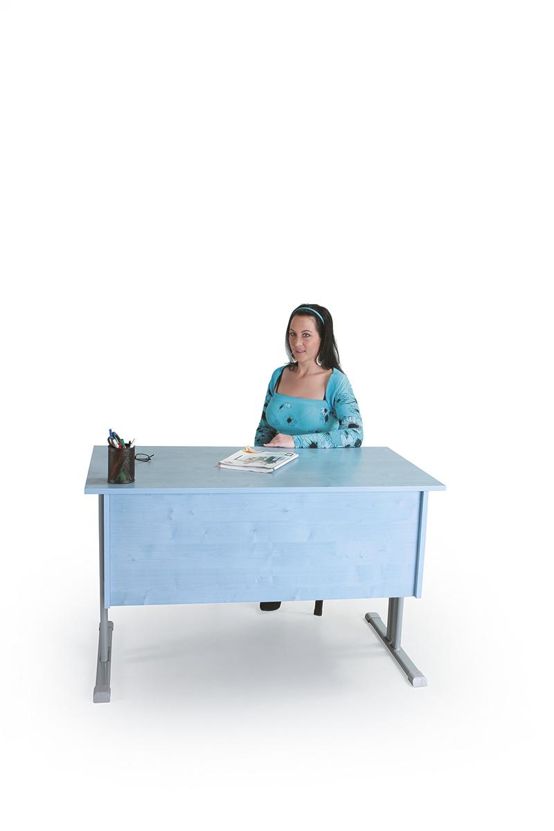 tanári asztal 1 fiókos, rétegeltlemez, dekorit borítással
