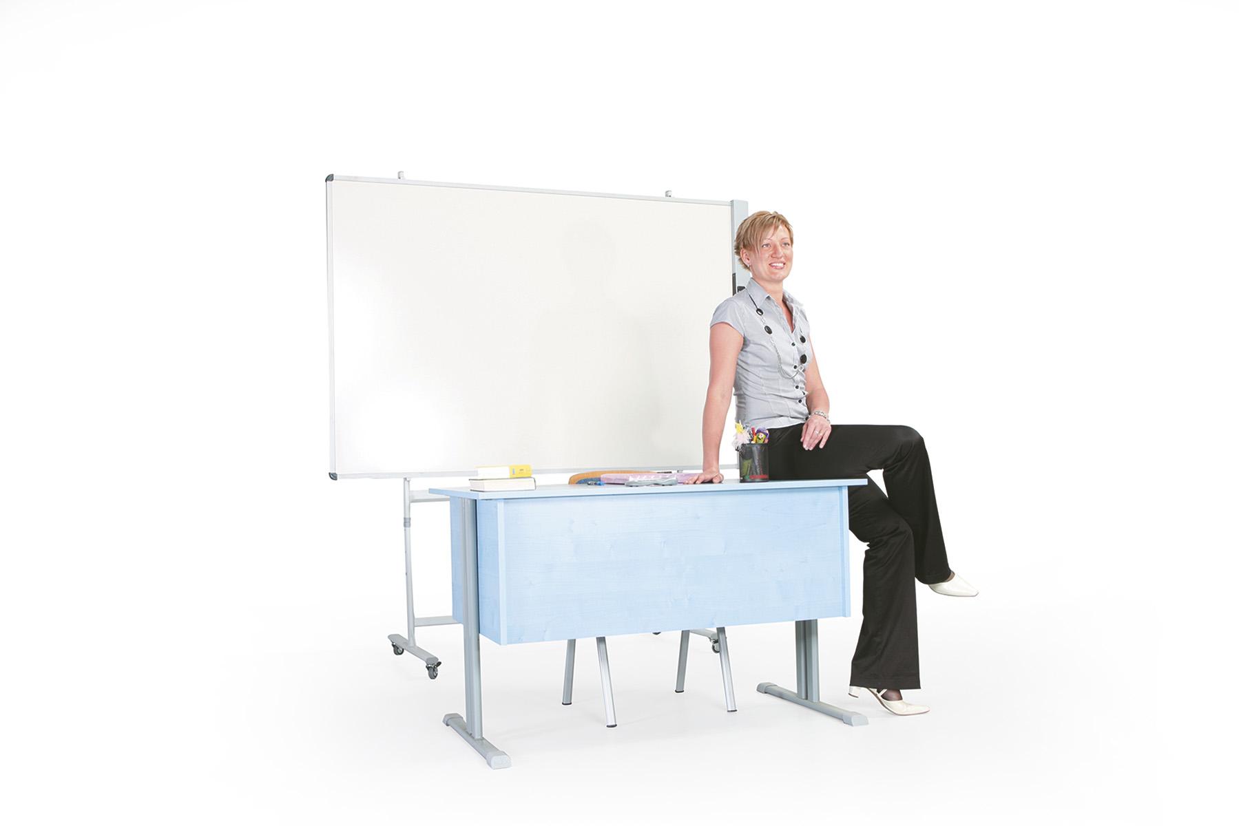 tanári asztal 2 fiókos, rétegeltlemez, dekorit borítással