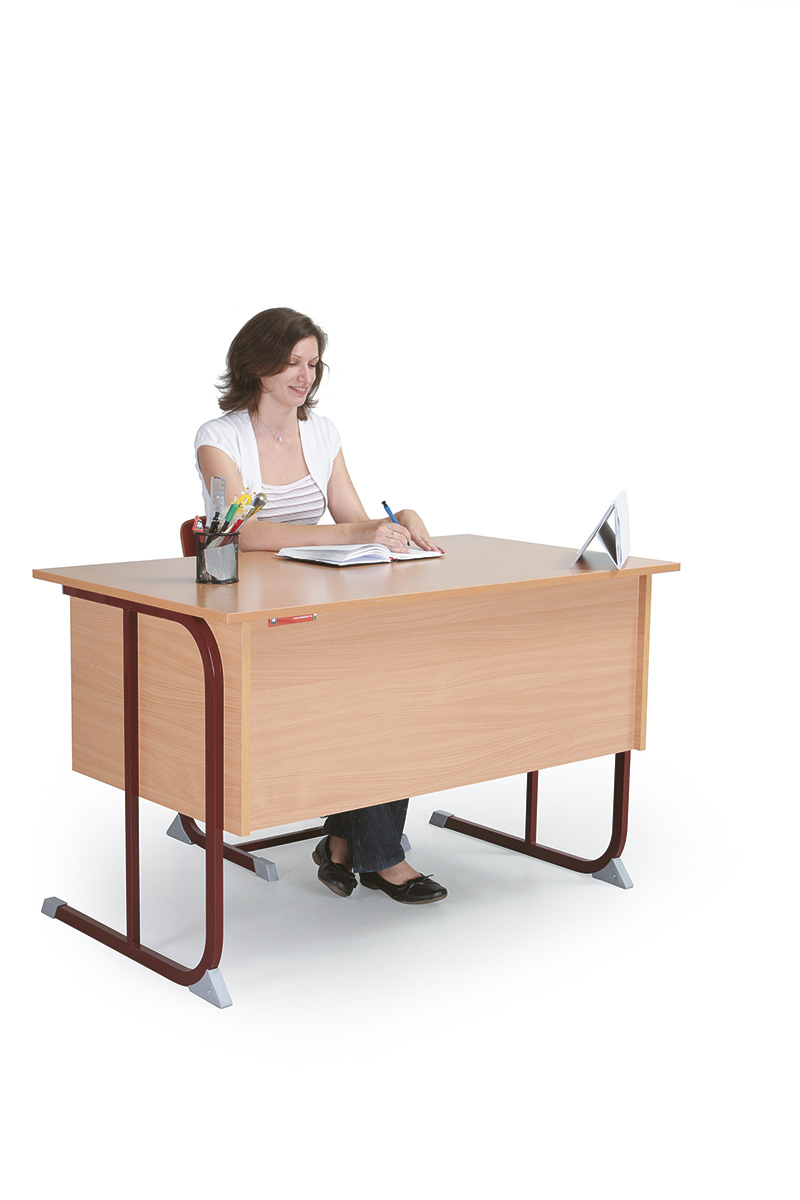 2 fiókos, laminált asztallap, sarkos