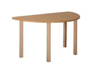 Mese félkör asztal fa vázzal