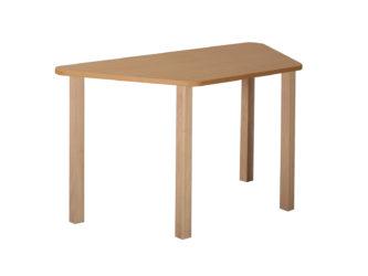 Mese trapéz asztal fa vázzal
