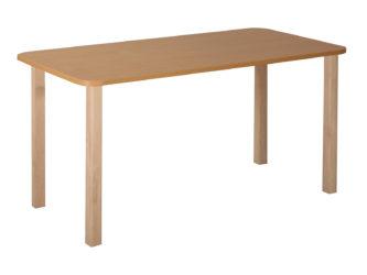 Mese téglalap asztal fa vázzal