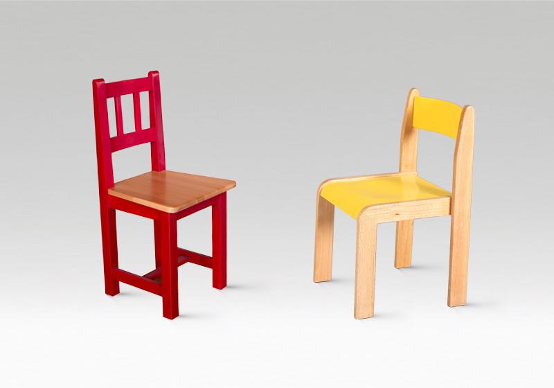 Fa óvodai székek