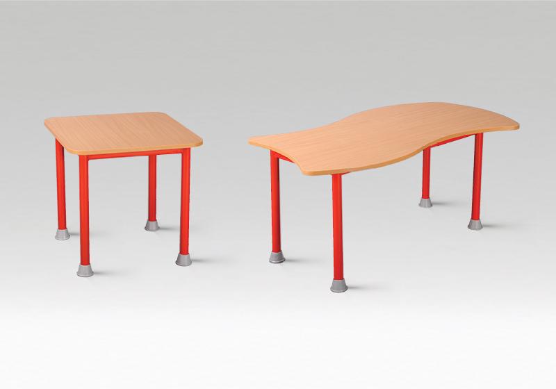 Fém óvodai asztalok