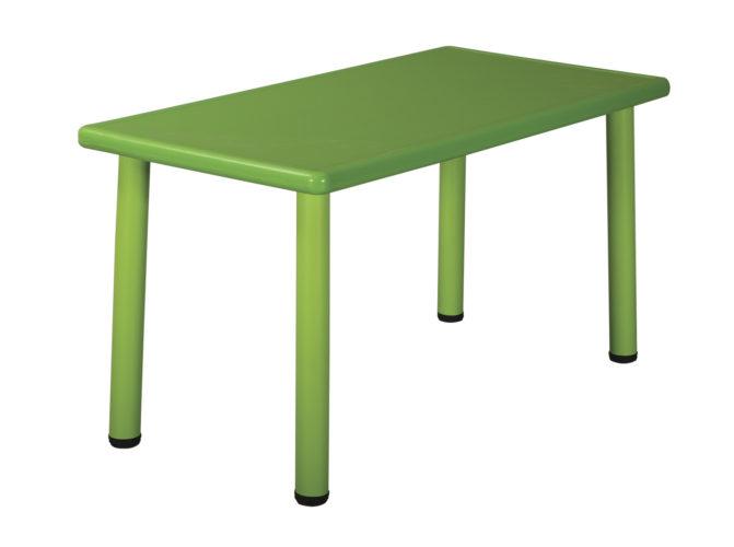 Szivárvány műanyag téglalap asztal