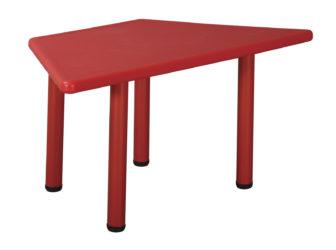 Szivárvány műanyag trapéz asztal