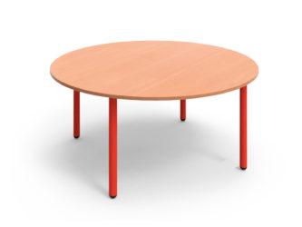 Mese kör asztal fém vázzal - 120 cm