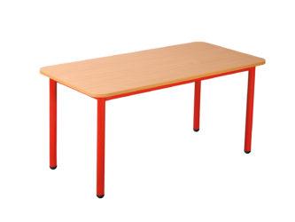 Mese téglalap asztal fém vázzal