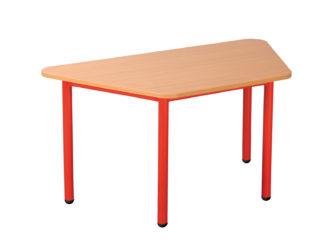 Mese trapéz asztal fém vázzal