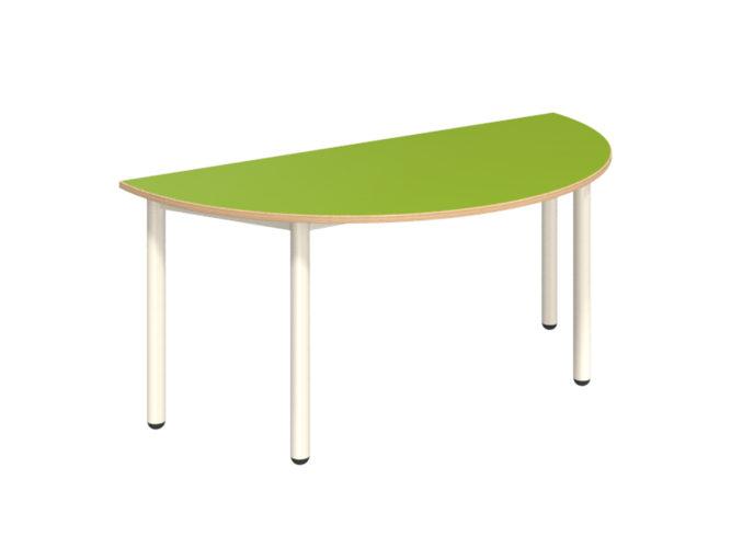 Mese félkör asztal dekorit asztallappal