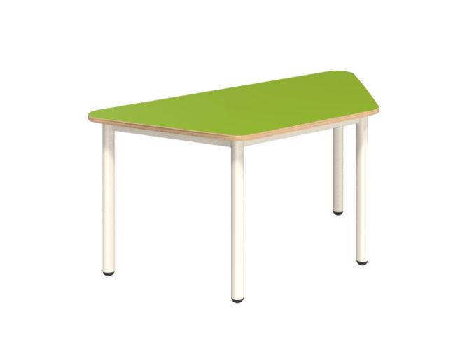 Mese trapéz asztal dekorit asztallappal