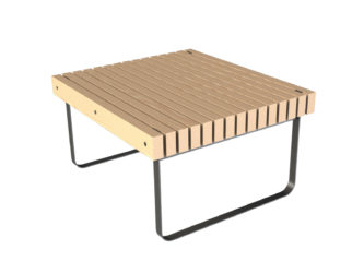 SimpliCity asztal, 2 személyes padhoz