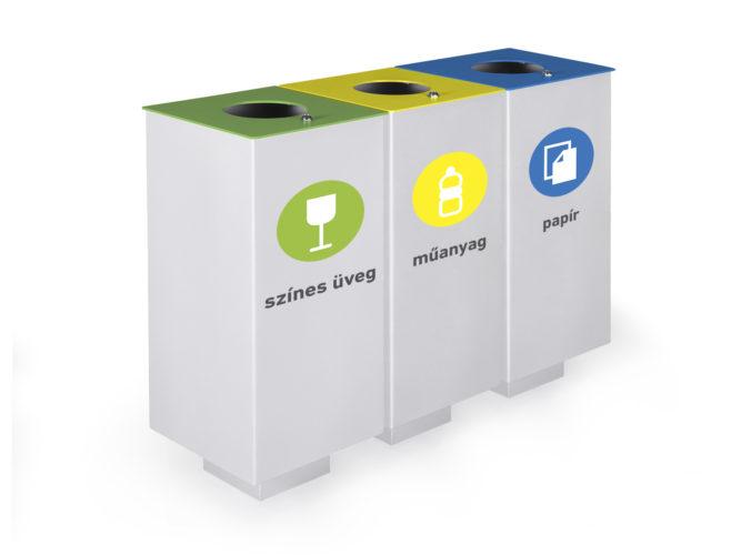 Cubeszelektív hulladékgyűjtő