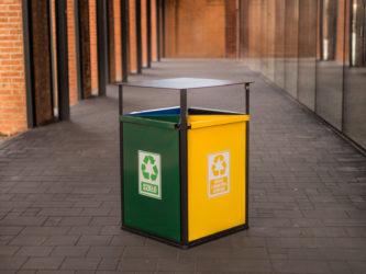 4 rekeszes szelektív hulladékgyűjtő
