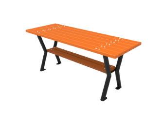 Kültéri asztal 3 személyes padhoz
