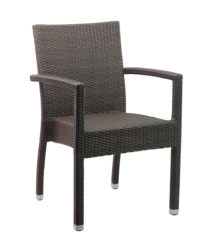 Polyrattan karfás szék